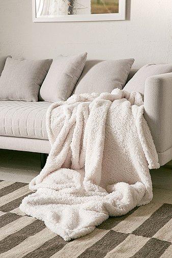 Image of Amped Fleece Throw Blanket, Cream