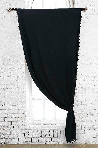 Image du produit Rideau à pompon noir