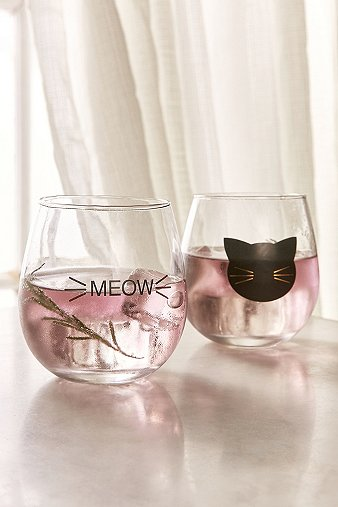 meow-wine-glass-set