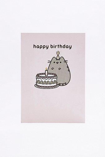 pusheen-happy-birthday-cake-card