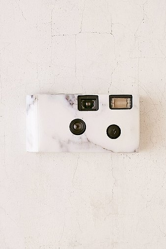 white-marble-disposable-camera