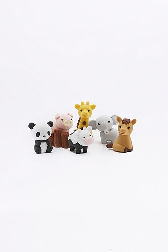 zoo-animal-eraser-set