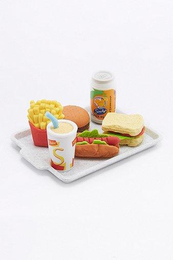 fast-food-eraser-set