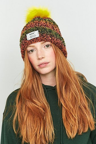 reason-chenille-knitted-fur-bobble-hat-womens-one-size