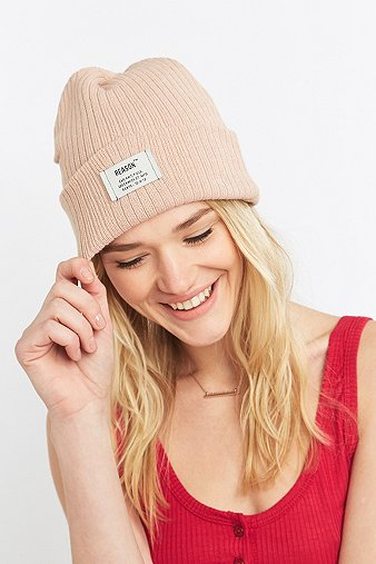 reason-ribbed-rose-beanie-womens-one-size