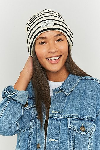 reason-striped-ribbed-ivory-beanie-womens-one-size