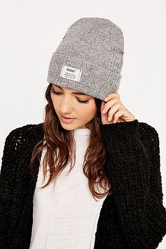 reason-ribbed-grey-beanie-womens-one-size