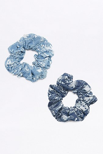 denim-paisley-scrunchie-hair-band-2-pack-womens-one-size