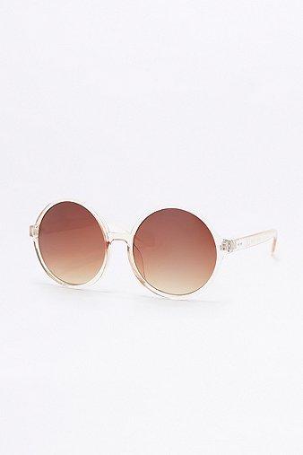 Image du produit Larges lunettes de soleil rondes cristal - Femme ONE 38IZE