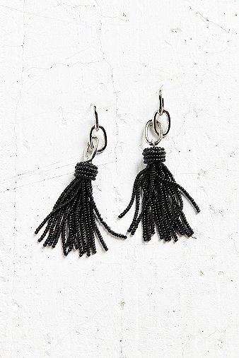 yara-chain-black-tassel-statement-earrings-womens-one-size
