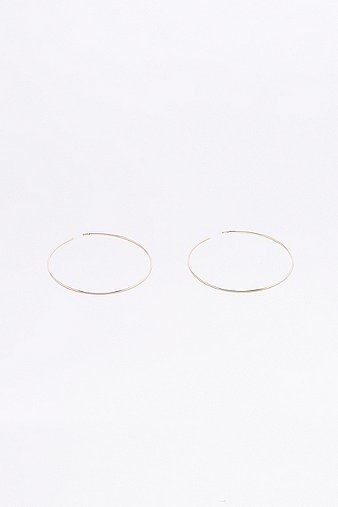brass-hoop-with-sterling-silver-post-earrings-womens-one-size