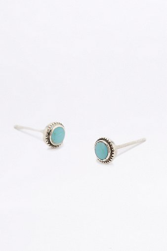 sterling-silver-turquoise-stud-earrings-womens-one-size