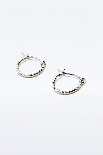 mini-facet-silver-hoop-earrings-womens-one-size