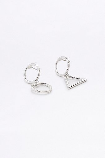 cheap-monday-outline-drop-earrings-womens-one-size