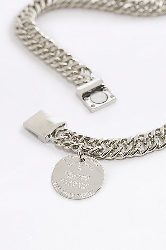 cheap-monday-silver-stamp-necklace-womens-one-size