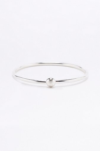 sterling-silver-ball-bangle-womens-one-size