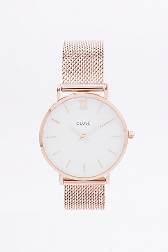 cluse-la-minuit-gold-mesh-watch-womens-one-size