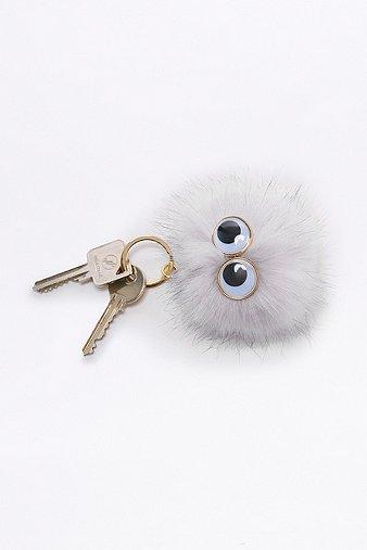 furry-pom-pom-eye-keyring-womens-one-size