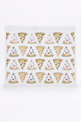 pizza-plastic-zip-yellow-make-up-bag-womens-one-size