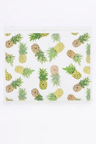 yellow-pineapple-plastic-zip-make-up-bag-womens-one-size