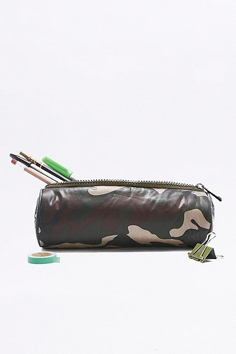 khaki-nylon-camo-pencil-case-womens-one-size