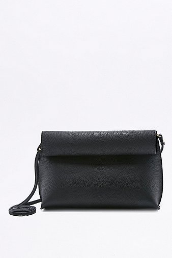 black-roll-top-clutch-cross-body-womens-one-size