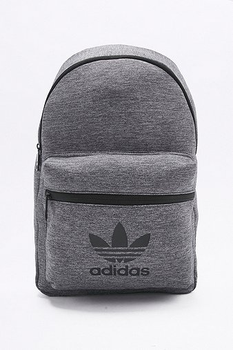 Adidas Originals Grey Jersey Backpack, Grey - Brandname 5e8cbc6ee7