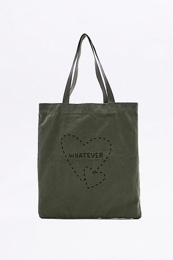 whatever-khaki-canvas-tote-womens-one-size