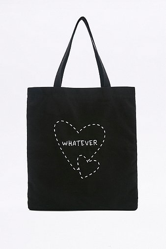 whatever-black-canvas-tote-womens-one-size