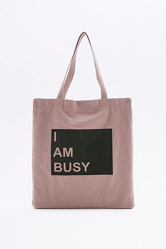 i-am-busy-pink-canvas-tote-womens-one-size