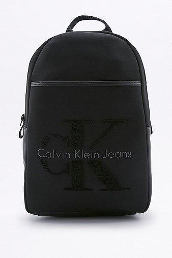 calvin-klein-re-issue-20-black-neoprene-backpack-womens-one-size