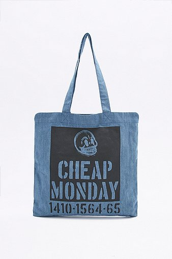 cheap-monday-squared-blue-denim-tote-bag-womens-one-size