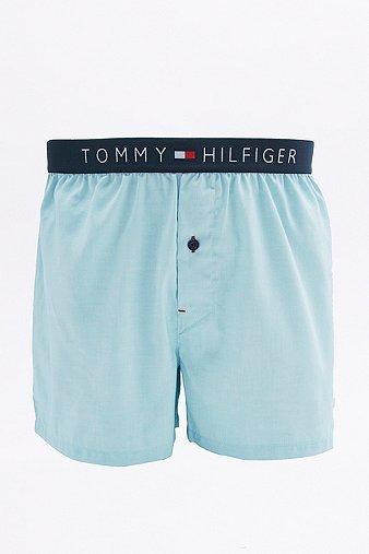 Image du produit Tommy Hilfiger - Caleçon en coton Oxford bleu - Homme S