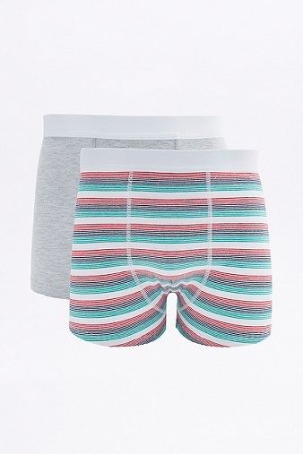 2 Pack General Selection Multi Stripe Boxer Trunks Assorted