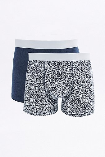 2 Pack General Selection Floral Print Boxer Trunks Assorted