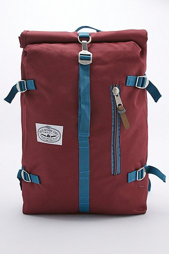 poler-outdoor-stuff-classic-rolltop-burgundy-backpack-mens-one-size