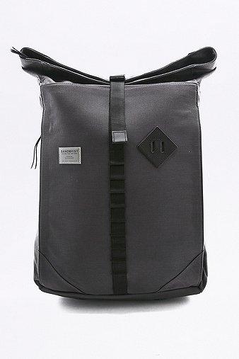 sandqvist-eddy-black-rolltop-black-backpack-mens-one-size