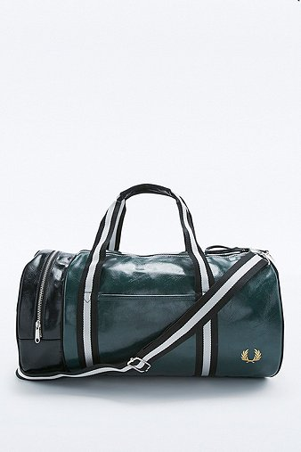 fred-perry-classic-bottle-green-barrel-bag-mens-one-size