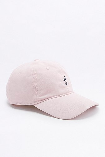 urban-outfitters-embroidered-flamingo-pink-cap-mens-one-size
