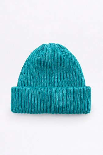 urban-outfitters-teal-ribbed-beanie-mens-one-size