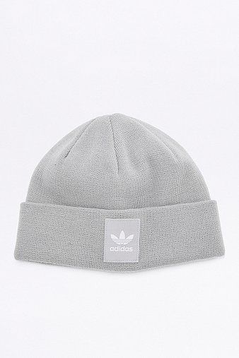 adidas-originals-grey-logo-beanie-mens-one-size