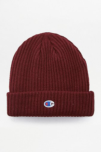 Champion Burgundy Reverse Weave Beanie - Mens ONE SIZE