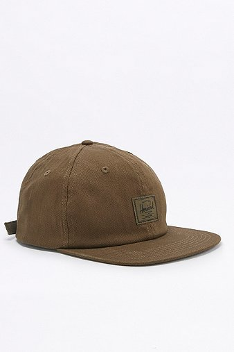 herschel-supply-albert-khaki-herringbone-cap-mens-one-size