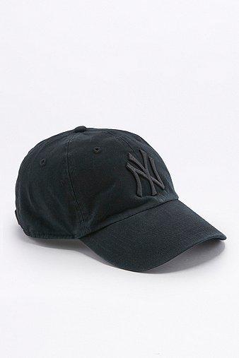 '47 Brand MLB NY Cleanup Tonal Black Cap, Black