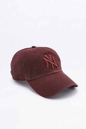 '47 Brand MLB NY Cleanup Tonal Maroon Cap, Maroon