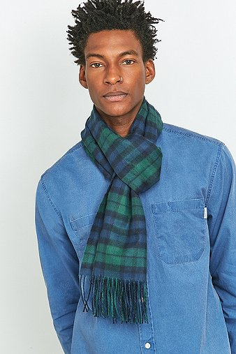 urban-outfitters-navy-green-plaid-scarf-mens-one-size