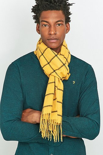 urban-outfitters-mustard-window-check-scarf-mens-one-size
