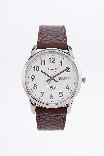timex-brown-leather-strap-watch-mens-one-size
