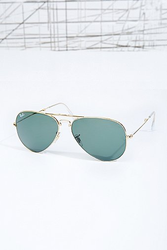 ray-ban-58-folding-aviator-sunglasses-in-gold-mens-one-size